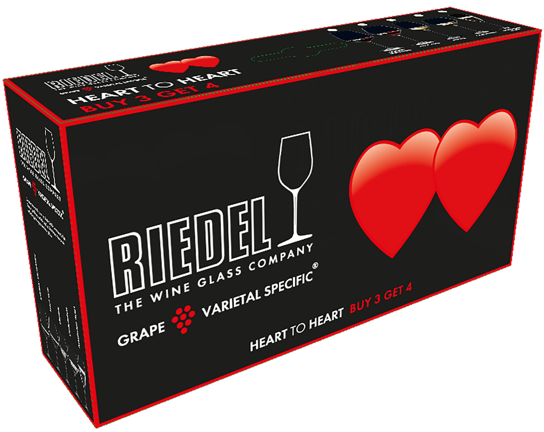 Стекло Riedel Heart to Heart CABERNET (4 glasses set)