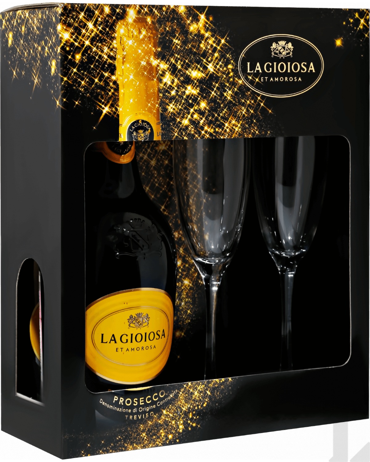Игристое вино La Gioiosa Prosecco DOC in gift box with two glasses 0.75л