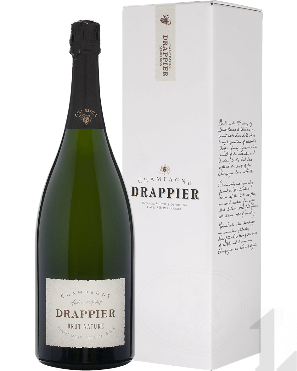 Игристое вино Drappier Brut Nature Zero Dosage Champagne AOP in gift box 1.5л